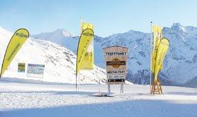 Treffpunkt der Skischule Yellow Power